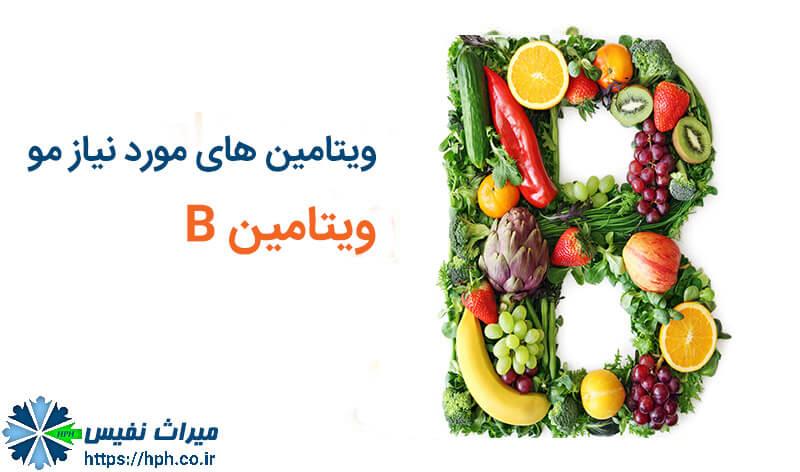 ویتامین های مورد نیاز مو ویتامین B برای مو