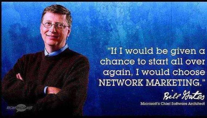 سخنان بزرگان اقتصاد درباره ی بازاریابی شبکه ای