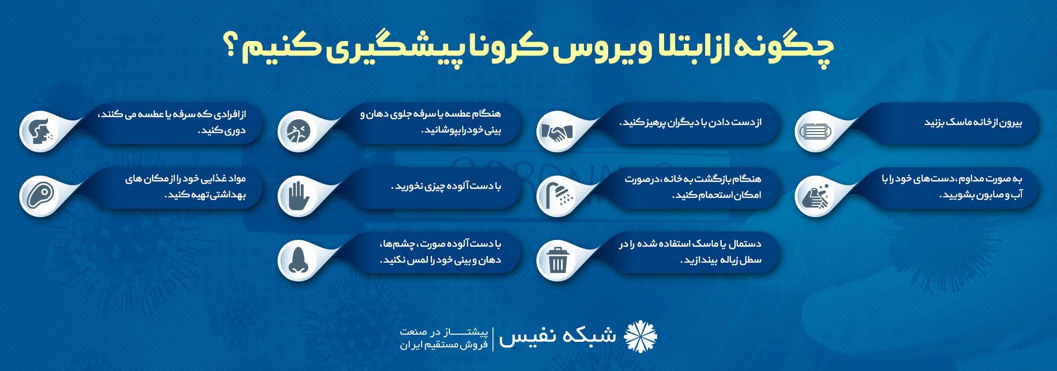 توصیه های بهداشتی برای جلوگیری از بیماری کرونا